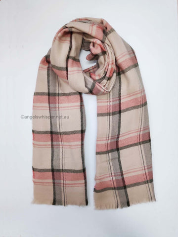Angel Whisper - Emma checked winter scarf - Pink