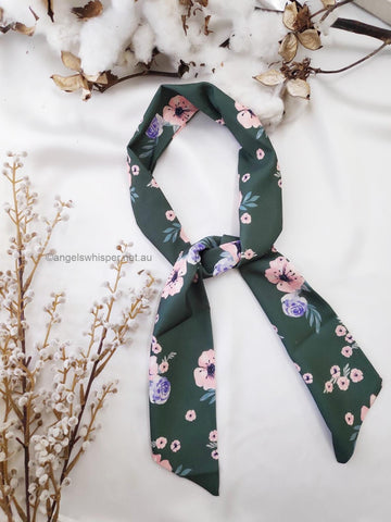Angels Whisper - Josephine Flower Print Headband - Green