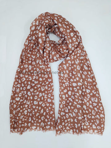 Angel Whisper - Natalene Rust Spotty - Lightweight Scarf