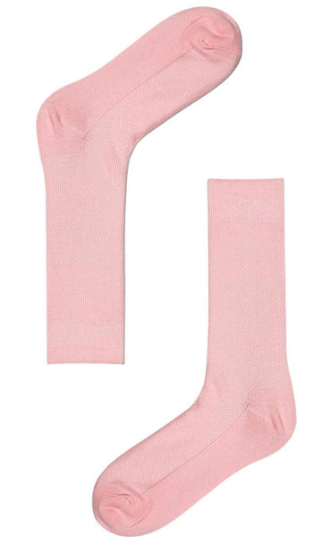 Otaa - Baby Pink Textured Cotton-Blend Socks