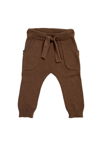 Miann & Co -  Baby Knit Pant - Portabello