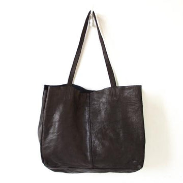 Juju & Co - Unlined Leather Tote - Black