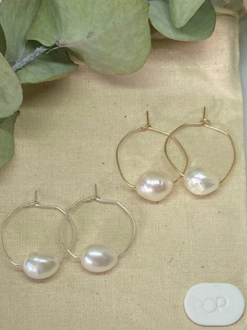 Pop Design - Fresh Water Pearl Earrings - Mabel