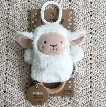 O.B Designs - Wooden Teether - Baby Rattle & Teething Ring - Lee Lamb