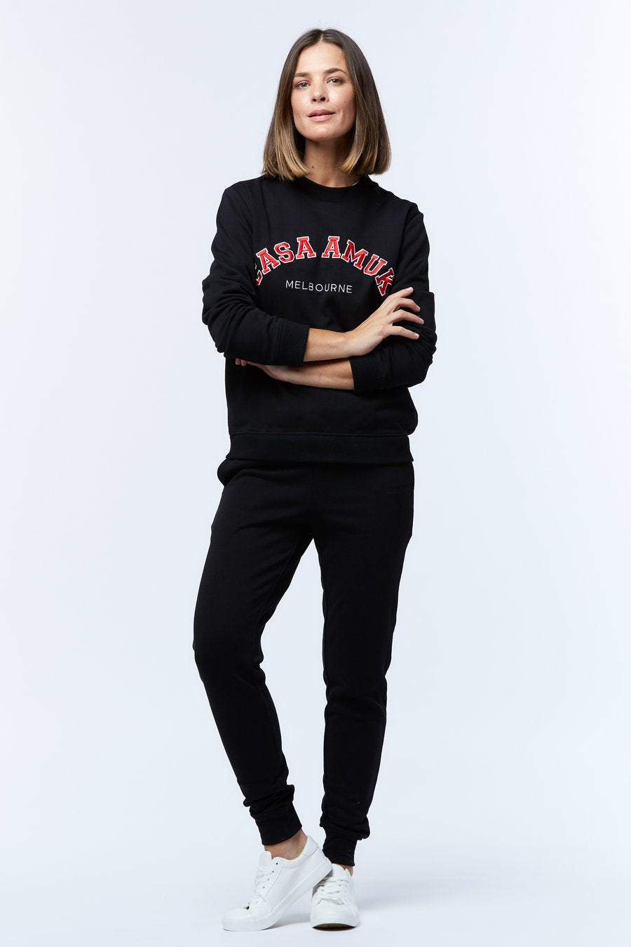 Casa Amuk - Varsity Sweater Black/Chilli