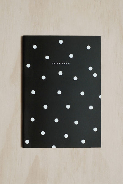 Dear Mason - Double Sided Notebook - Ruled - Large - Be Happy