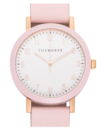 The Horse - The Resin : Pink/ White Dial /Pink Leather