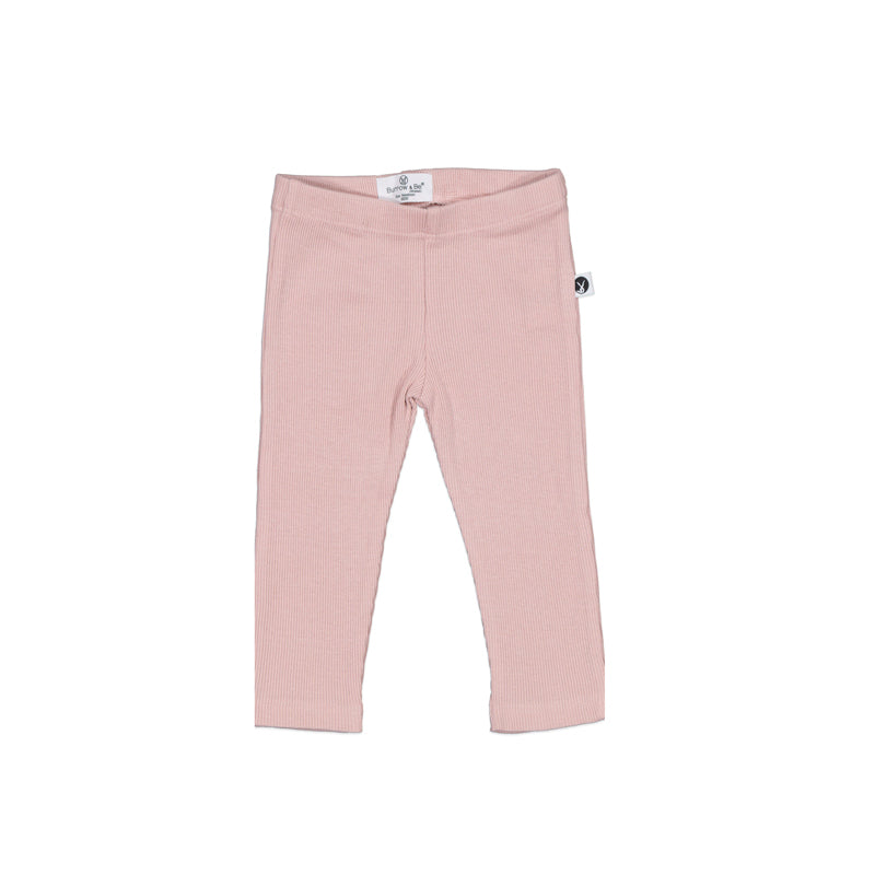 Burrow & Be - Rib Leggings - Dusty Rose