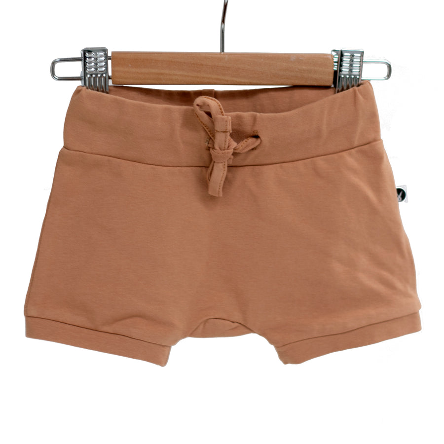 Burrow & Be - Essentials Baby Shorts - Tawny Brown