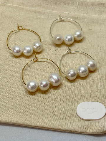 Pop Design - Fresh Water Pearl Earring - Fleur