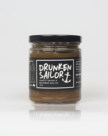 Drunken Sailor - Confit Onion & Bourban Relish 295g