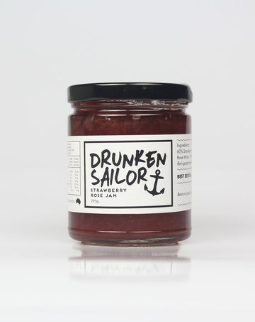 Drunken Sailor - Strawberry Rose Jam 295g