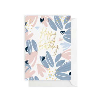 Elm Paper - Nordic Leaf Happy Birthday