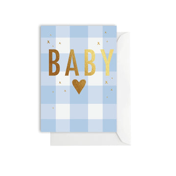 Elm Paper - Gingham Baby Blue
