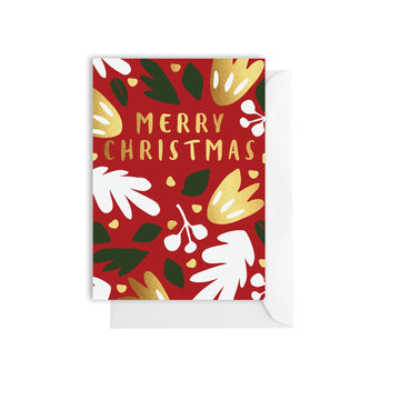 Elm Paper - Festive Flower Red