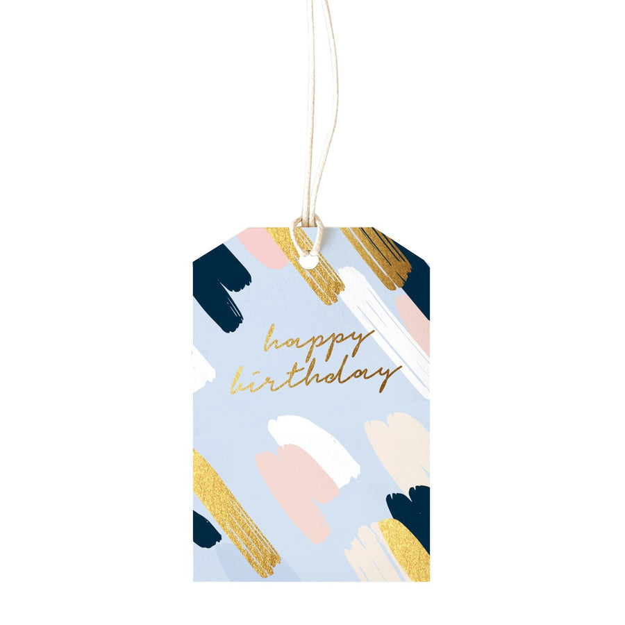 ELM Paper - Painty Blue Gift Tag