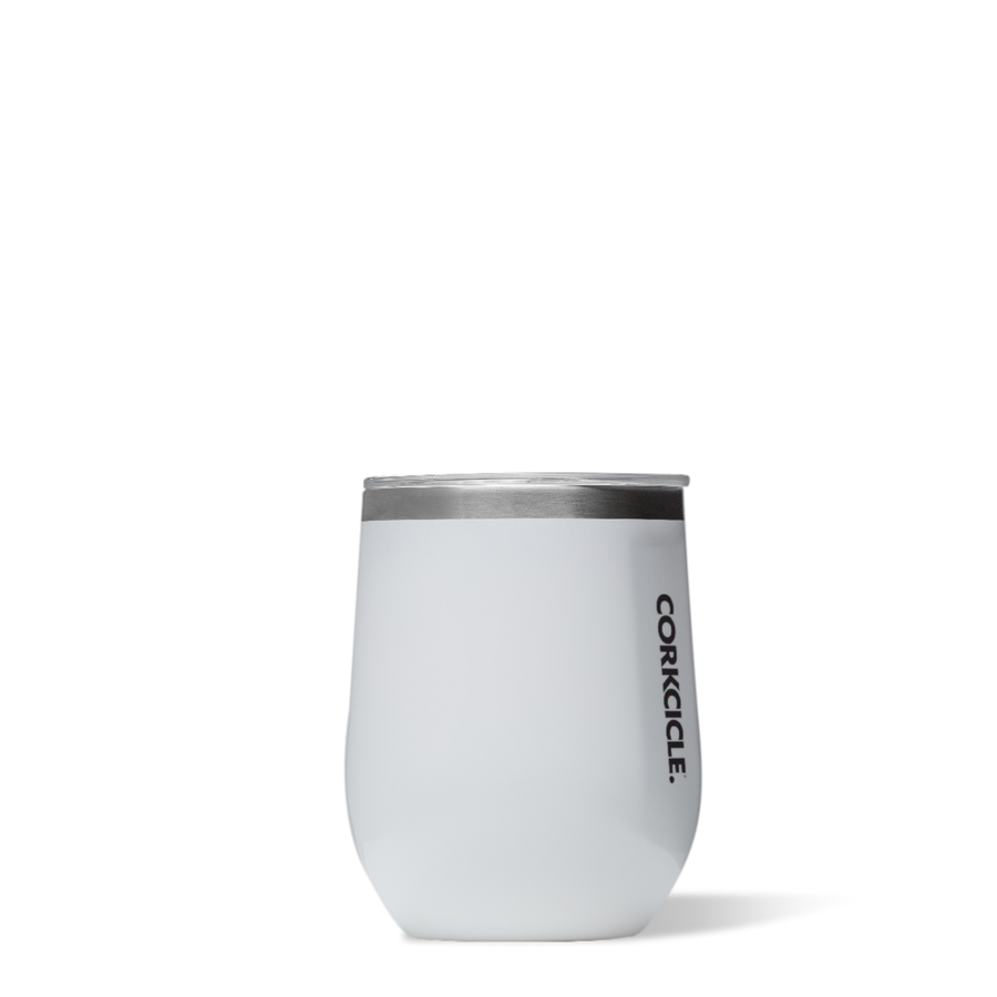 Corkcicle - 12oz Stemless Gloss White