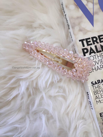 Angels Whisper - Darlene Crystal Hair Clip - Pink