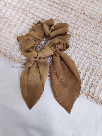Angels Whisper - Barbara Satin Scrunchie with Bow