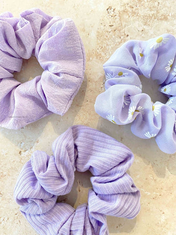 Angels Whisper - Daisy Lilac Scrunchies - 3 Pack