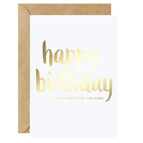 Galina Dixon - Happy Birthday - Eat The Cake Card