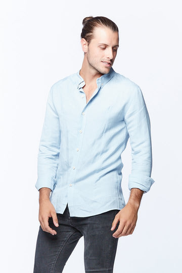 Casa Amuk - Men's linen shirt - blue
