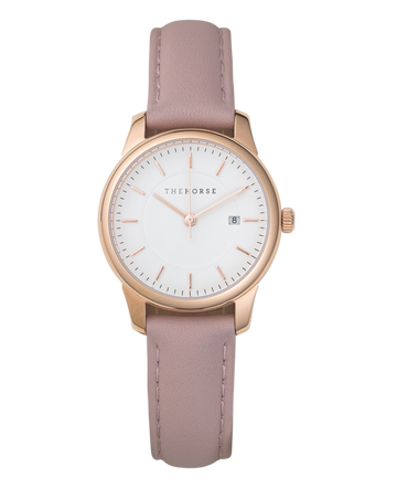 The Horse - Ivy Girl - Polished Rose Gold Case / White Dial / Blush Leather Strap