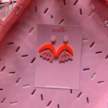 Emeldo - Arlie Earring - Pink & Red
