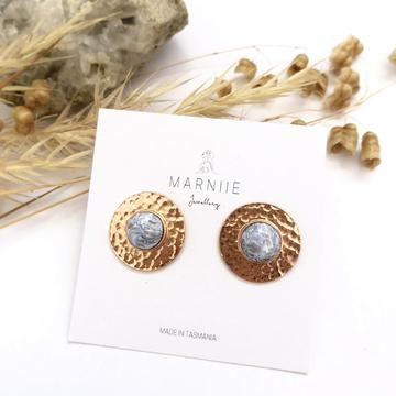 Marniie - Hammered Studs - Assorted Colours