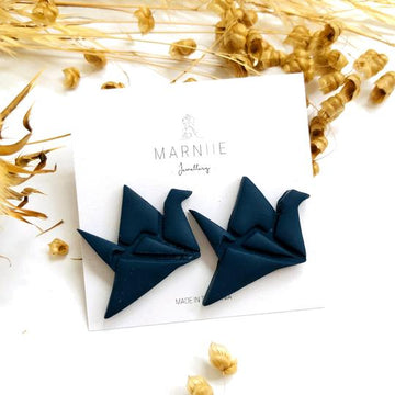 Marniie - Origami Crane Studs - Assorted Colours