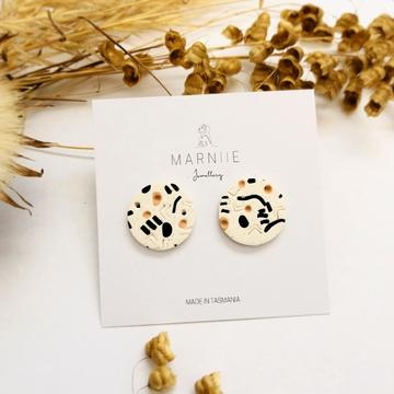 Marniie - Abstract Studs - Assorted Colours
