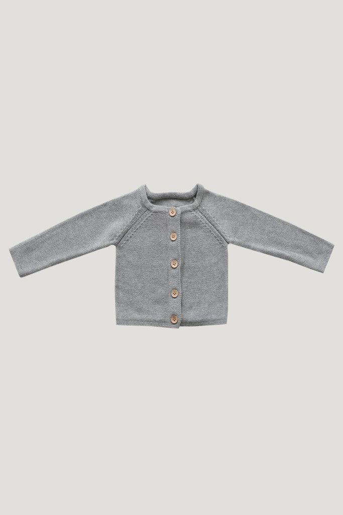 Jamie Kay - Simple Cardigan - Light Grey Marle