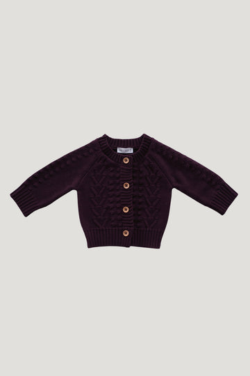 Jamie Kay - Cable Cardigan - Mulberry