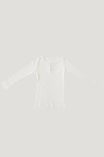Jamie Kay - Cotton Modal Henley - Milk