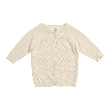 MIANN & CO KIDS - KNIT DETAIL CARDIGAN