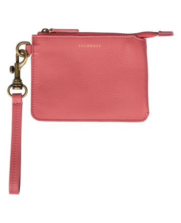 The Horse - Lobster Leather Pouch - Rose Pink