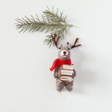 Down to the Woods - Felt Reindeer with Books