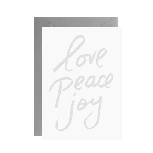 Galina Dixon - Love Peace Joy - Mini Letterpress Card