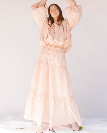 The Lullaby Club - Kaira Skirt // Peach Pink
