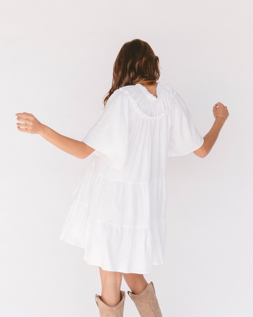 The Lullaby Club - Nikita Tiered Dress // White