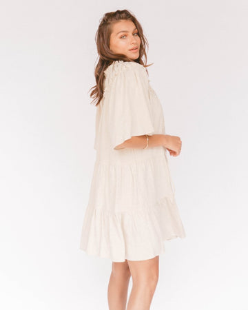 The Lullaby Club - Nikita Tiered Dress - Oat