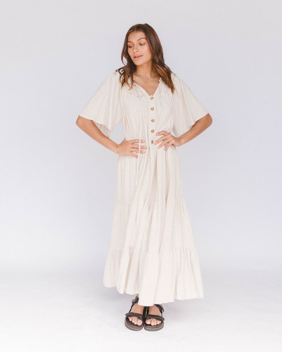 The Lullaby Club - Nikita Maxi Dress - Oat