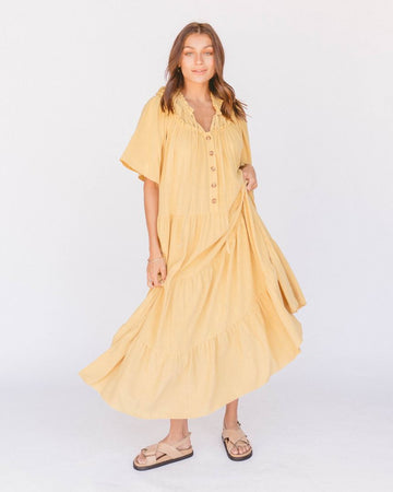 The Lullaby Club - Nikita Maxi Dress // Marigold
