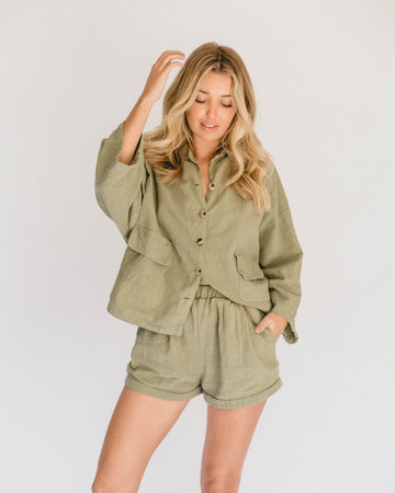 The Lullaby Club - Women's Lounge Set // Olive