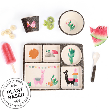 Love Mae - Divided Plate Set - Llamarama (Plant Based)