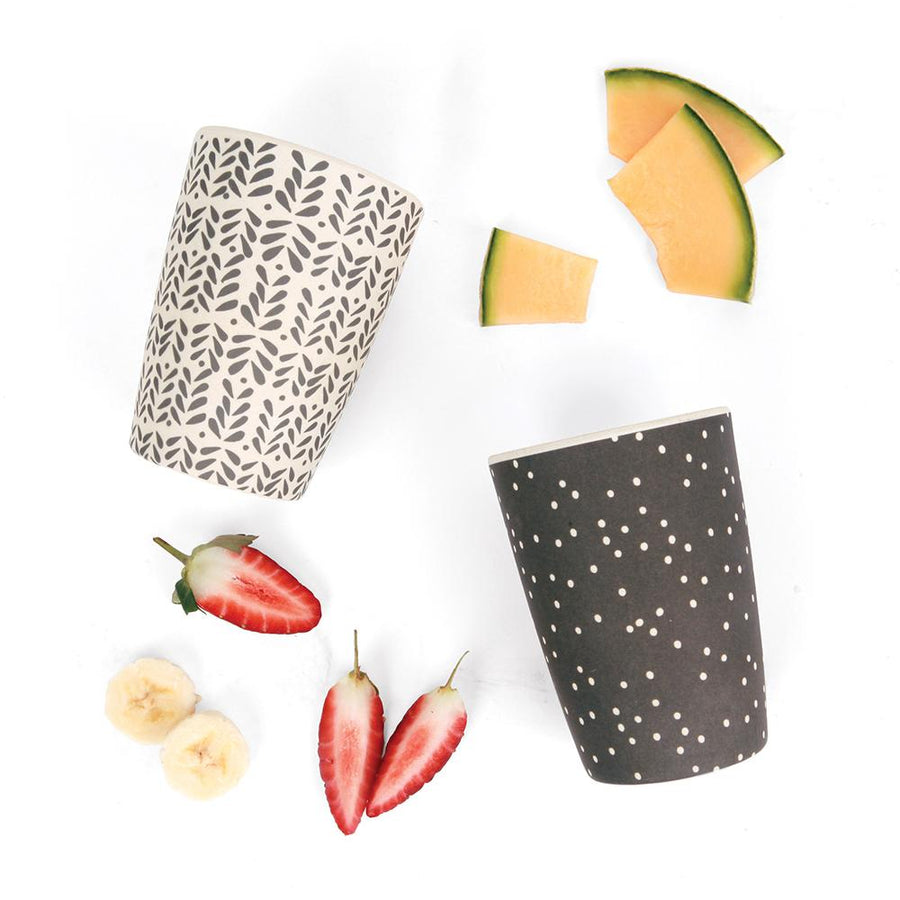 Love Mae - Bamboo 4 Pack of Tumblers Monocrome Mix