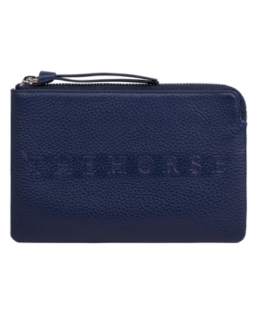 The Horse - Mini Zip Clutch - Navy