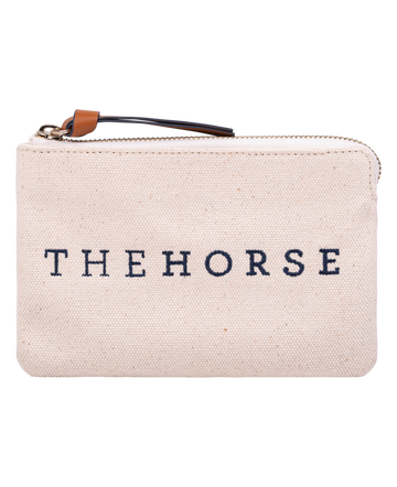 The Horse - Mini Zip Clutch - Canvas/Tan