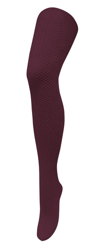 Tightology -  MEADOWS COTTON TIGHTS - Burgundy