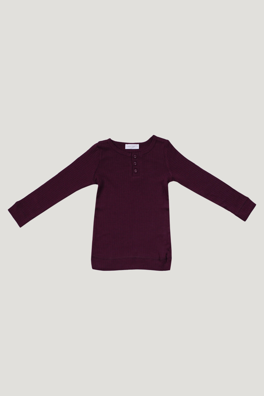 Jamie Kay - Cotton Modal Henley - Mulberry